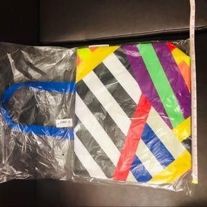 Multi color rainbow Shopping bag.